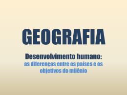 IDH – Índice de Desenvolvimento Humano I