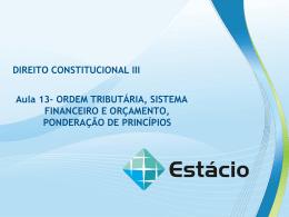 DIREITO CONSTITUCIONAL III Aula 13
