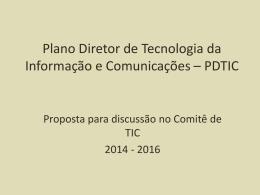 PDTI MDA final - Ministério do Desenvolvimento Agrário