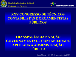 contabilidade aplicada à administração pública