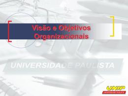 Visão e Objetivos Organizacionais
