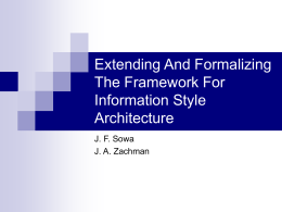 Extending And Formalizing The Framework For Inormation Style