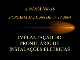 A Nova NR-10 - Implantação do PIE
