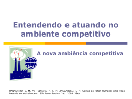 A nova ambiência competitiva