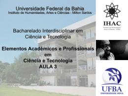 FORMAÇÃO EM BIOLOGIA NA UNIVERSIDADE NOVA