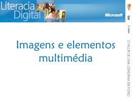 Imagens e elementos multimedia