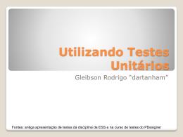 Utilizando Testes Unitários