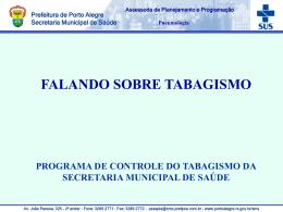 Tabagismo - Prefeitura Municipal de Porto Alegre