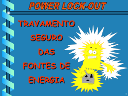 Treinamento de POWER LOCK-OUT