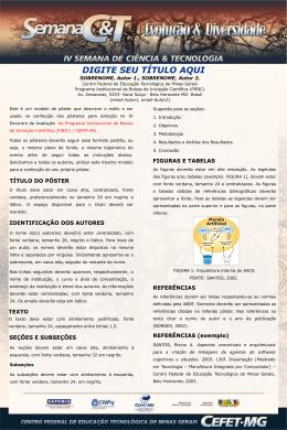 Slide 1 - IV Semana de Ciência & Tecnologia - Cefet-MG