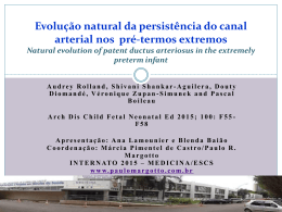 Evolução natural da persistência do canal arterial nos pré