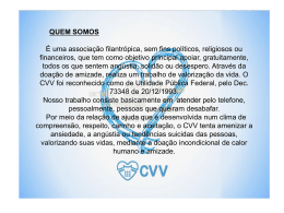 Clique aqui para conhecer mais sobre o CVV