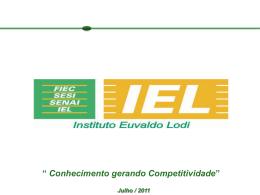 PROGRAMAS IEL DE EXTENSÃO TECNOLÓGICA