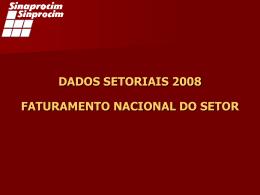 dados setoriais 2008