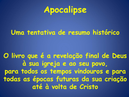Apocalipse - Uma tentativa de resumo histórico