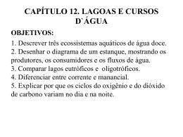 CAPÍTULO 12. LAGOAS E CURSOS D`ÁGUA