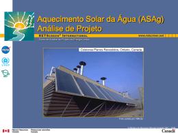 Aquecimento Solar da Água (ASAg) Análise de Projeto