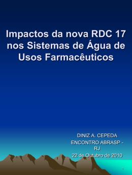 Impactos da nova RDC 17 nos Sistemas de Água de Usos