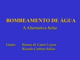 BOMBEAMENTO DE ÁGUA