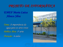 EMEF Maria Luiza Alonso Silva Thais Nunes Saraiva