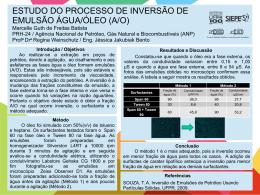 ESTUDO DO PROCESSO DE INVERSÃO DE EMULSÃO ÁGUA