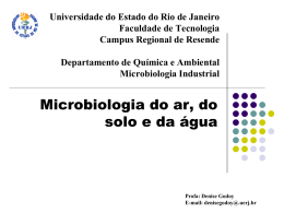 microbiologia do ar, água, solo