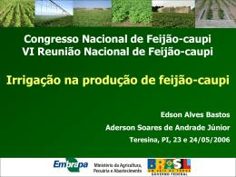 Minicurso Irrigacao-2 - Embrapa Meio