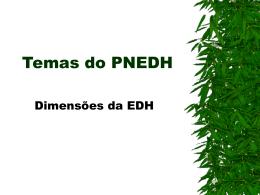 Dimensões da Educação em Direitos Humanos EDH