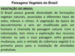 Paisagens Vegetais do Brasil