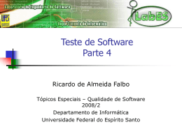 Teste de Software - Informática - Universidade Federal do Espírito
