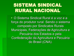 SISTEMA SINDICAL RURAL NACIONAL