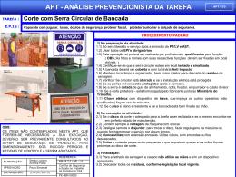 APT 10 - Corte com Serra Circular de Bancada