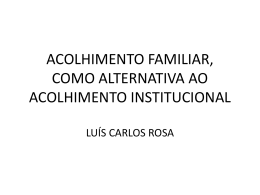 acolhimento familiar como alternativa ao