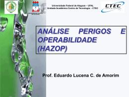 análise perigos e operabilidade (hazop)