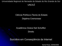Suicídios em conseqüência da Internet