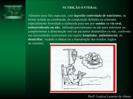 nutrição enteral - Universidade Castelo Branco