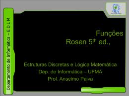 Funções - DEINF/UFMA