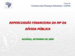 Grupo de Gestores das Finanças Estaduais - GEFIN