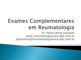 Exames Complementaares em Reumatologia