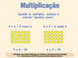 Multiplicação e a propriedade comutativa