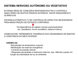 sistema nervoso autônomo ou vegetativo