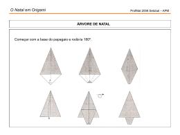 O Natal em Origami
