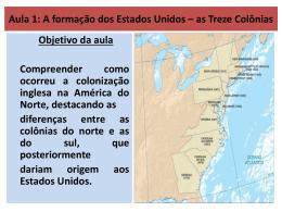 Formação e Independência dos Estados Unidos (2)