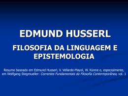 Husserl - CCHLA/UFRN