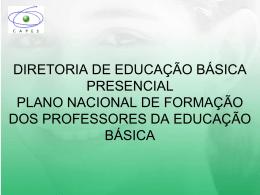 Diretoria de Educação Básica Presencial _PARFOR