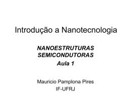 Nanoestruturas semicondutoras 1
