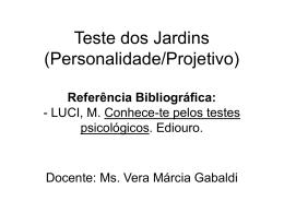 Teste dos Jardins (Personalidade/Projetivo) Referência
