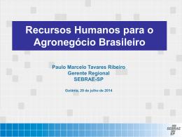 Recursos Humanos para o Agronegócio Brasileiro