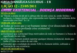 23/05/2011 crise existencial - doença moderna!