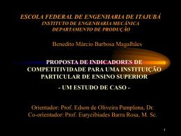ESCOLA FEDERAL DE ENGENHARIA DE ITAJUBÁ EFEI